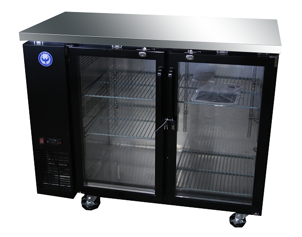 48 inch glass door back bar cooler