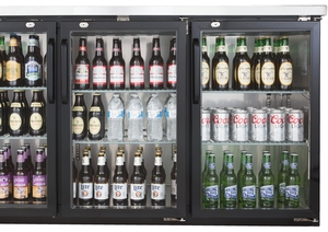 PBB69G 69u2033 Glass Door Back Bar Cooler With Stainless Steel Top And LED  Lighting ...