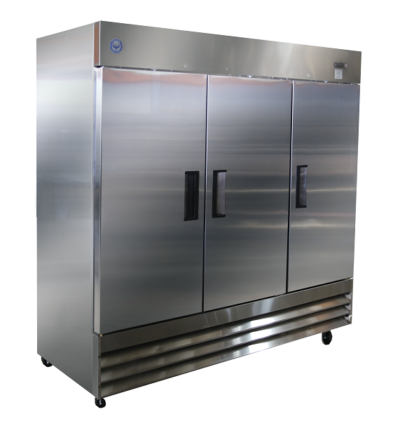 Prif72 72 Cu Ft Three Door Reach In Freezer Phoenix