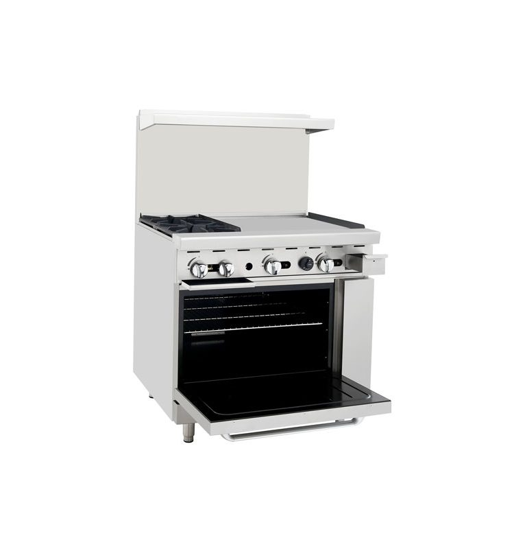 Stove With Griddle ~ ″ commercial range w burners flat top griddle