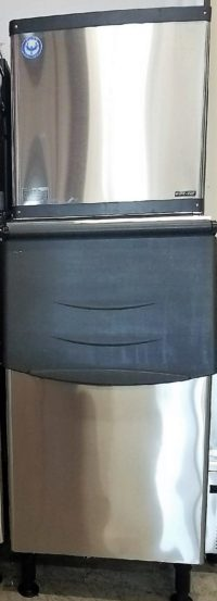 350 pound commercial ice machine with bin included